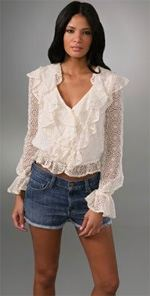 alice-and-olivia, Alice + Olivia, Blouse, Ruffled blouse, fashion, style, trend