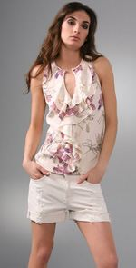 parker, blouse, top, ruffled top, fashion, style, trend