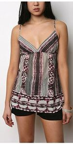ecote, cami, camisole, printed cami, top, fashion