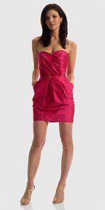 alexia, alexia admor, dress, strapless dress, pink dress