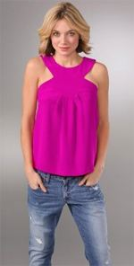 anlo, top, tank, hot pink, pink top, fashion, style
