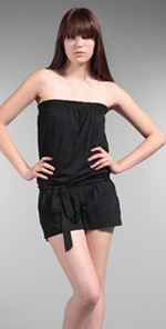 cc, C&C california, romper, strapless romper, black romper, fashion, style