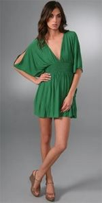 tbags, T-bags, dress, green dress, tunic dress, fashion, style