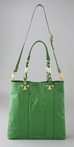 tory burch, bag, handbag, tote, green tote