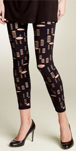 6126, leggings, ripped leggings, Lindsay Lohan, fashion style, trend