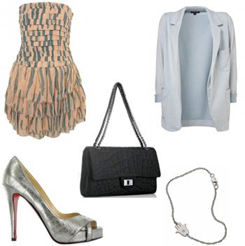 Look 2 collage, Lauren conrad, fashion, style, topshop, Chanel, Chanel Bag, christian Louboutin, Jennifer Zeuner
