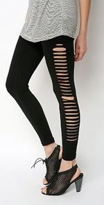 body-silence, silence & noise, leggings, fashion, style, trend, ripped leggings