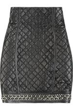 Balmain skirt, balmain, skirt, leather skirt, fashion, style