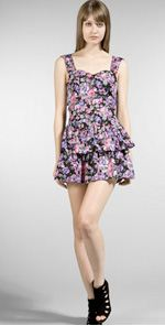 mink pink, dress, floral dress, fashion, style
