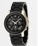 kors black, michael kors, watch, black watch
