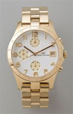 marc by marc jacobs, watch, gold watch, boyfriend watch