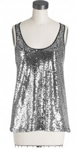 Parker, sequin top