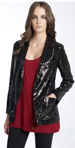 literature, blazer, sequined blazer