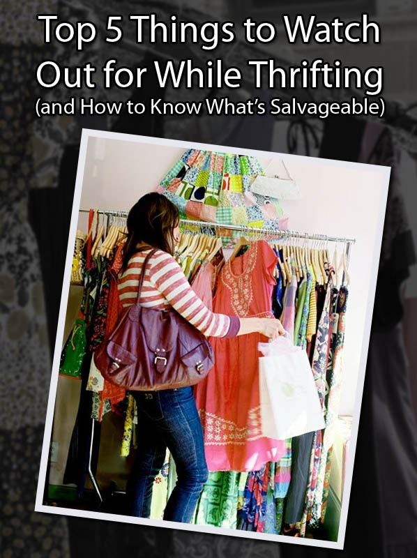 Top 5 Things to Watch Out for While Thrifting (and How to Know What's Salvageable) post image