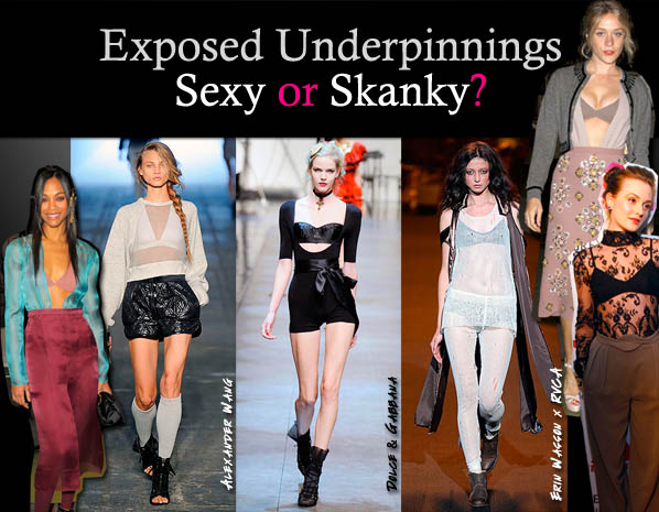 Exposed Lingerie: Sexy or Skanky? post image