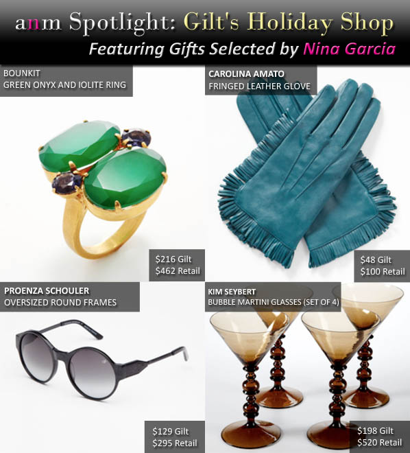 ANM Spotlight: Gilt's Holiday Shop (Featuring Gifts Selected by Nina Garcia) post image