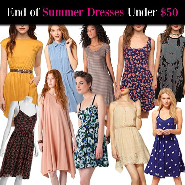 End of Summer Dresses Under $50 post image