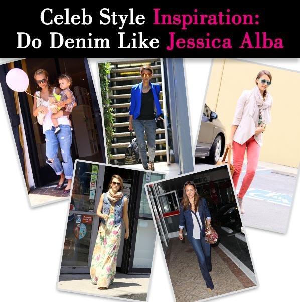 Celeb Style Inspiration: Do Denim Like Jessica Alba post image