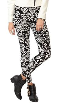 Ikat Print Leggings