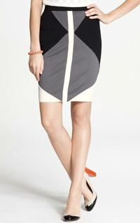 Ann Taylor colorblocked skirt