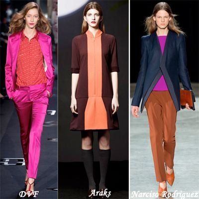 Trend color blocking