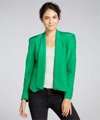 drew strong shoulder blazer