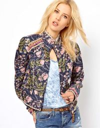 free people printed jacket