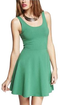 STRETCH COTTON SKATER DRESS