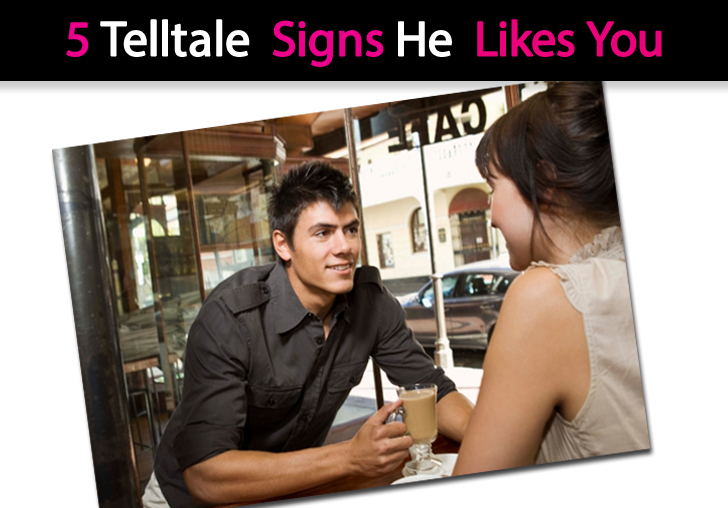 5 Telltale Signs He Likes You