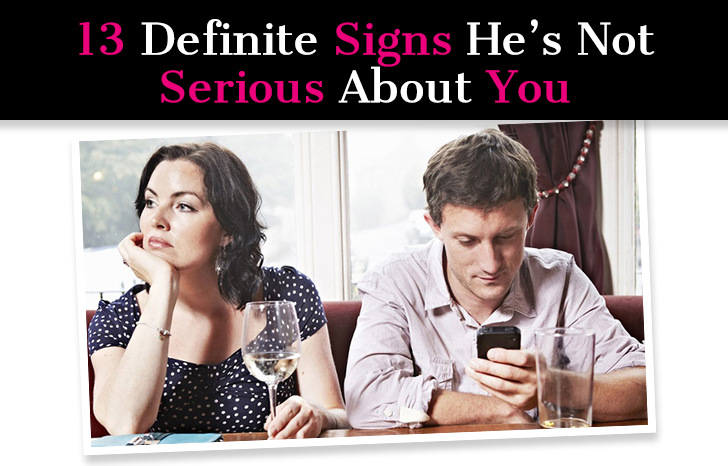 How to tell if the guy you are dating is serious