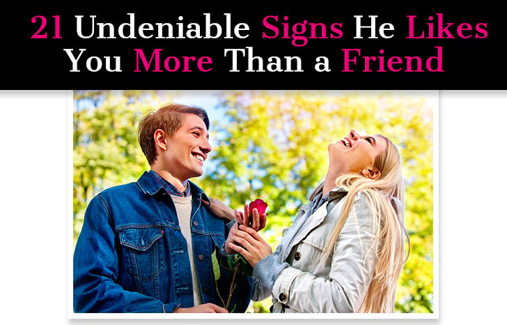subtle signs he likes you more than a friend