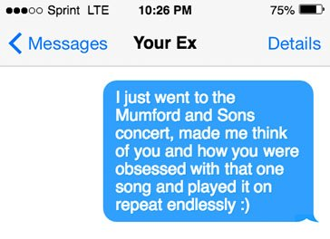 How to text to get your ex back
